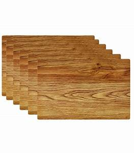 Set De Table Vinyl : set de table design bois clair en vinyle set de 6 ~ Teatrodelosmanantiales.com Idées de Décoration