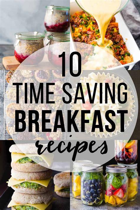 time saving healthy breakfast recipes