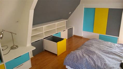 chambre bébé sous pente rangements en soupente chambre d enfant brodie agencement