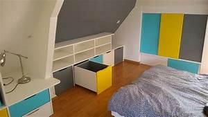 Rangement Pour Chambre : rangements en soupente chambre d enfant brodie agencement ~ Premium-room.com Idées de Décoration