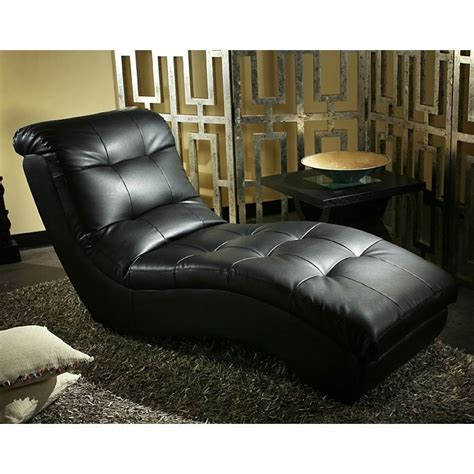 metro pro chaise lounge tufted black leather