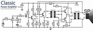 Classical Audio Power Amplifier With It And Ot Transformer