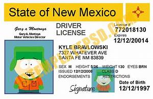 This Is New Mexico  Usa State  Drivers License Psd  Photoshop  Template  On This Psd Template