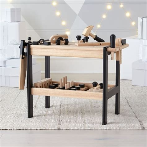 wooden toy workbench reviews crate  barrel