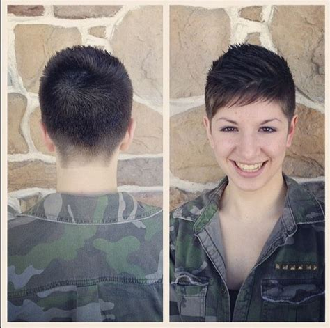 military inspired shearing pixie cut pinterest