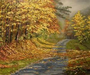 chemin aux couleurs d39automne mes peintures With toute les couleurs de peinture 0 peinture amour dautomne
