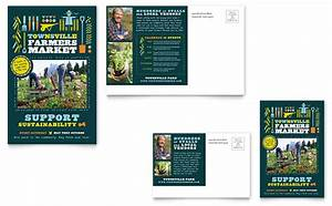 lawn care flyers templates free farmers market postcard template design