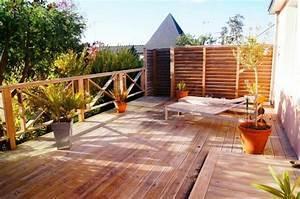 revgercom idee amenagement terrasse en bois idee With jardin paysager avec piscine 5 terrasse en bois composite fiberon xtrem galaxy jardin