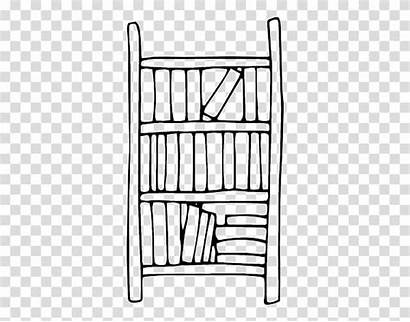 Drawing Bookcase Shelf Clipart Background Living Transparent