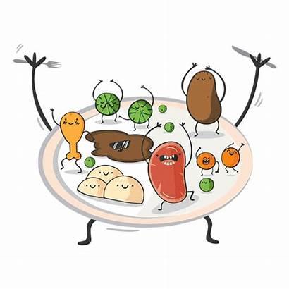 Dance Plate Vegetables Leftovers Waste National Cooking
