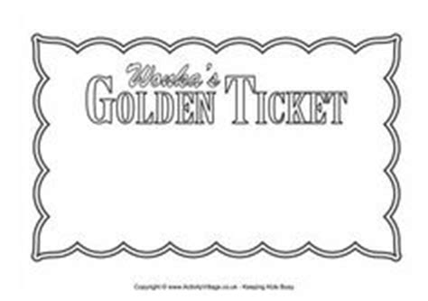 Blank Golden Ticket Template by Free Printable Willy Wonka S Golden Ticket Need To A