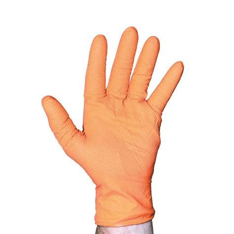 vis orange nitrile gloves ultrasource food equipment  industrial supplies
