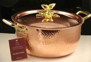 ruffoni specialty cookware tin lined solid copper covered pot   italy nwt ebay