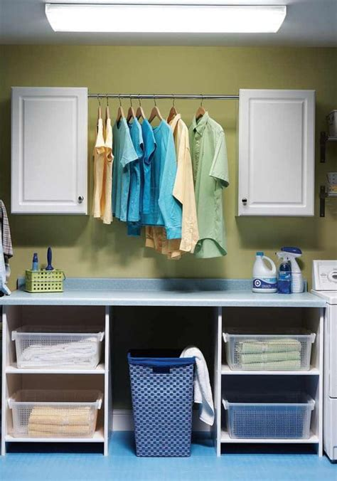 laundry room table with storage affordable home improvement ideas cabinets countertops