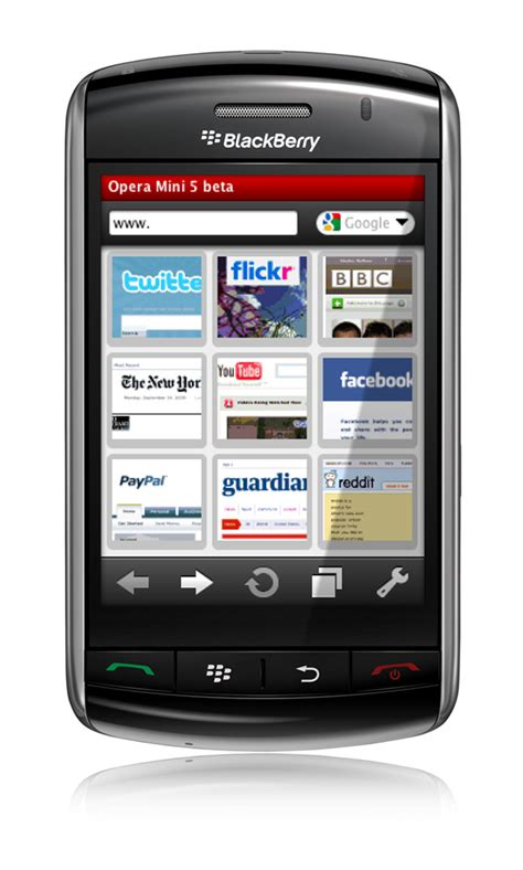 free opera for blackberry software download