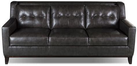 The Brick Leather Sofa by Davina Genuine Leather Sofa Smoke The Brick Home