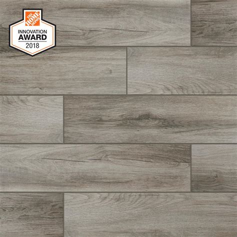 Wall Floor Tiles by Lifeproof Shadow Wood 6 In X 24 In Porcelain Floor And