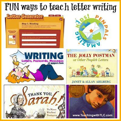 fun ways  teach letter writing writing teaching