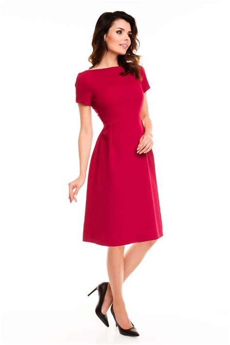 robe de bureau sleeves midi flared dress