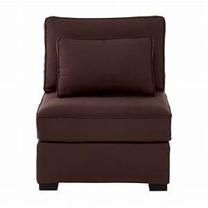 Canapé Chauffeuse Modulable : chauffeuse de canap modulable en coton marron chocolat ~ Teatrodelosmanantiales.com Idées de Décoration
