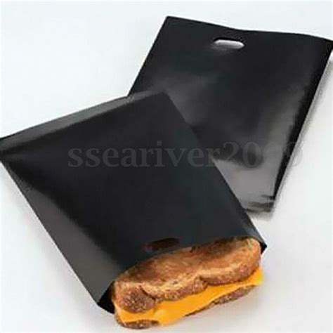 Toaster Bags by 2x Reusable Toaster Bags Toastie Sandwich Toast Pizza