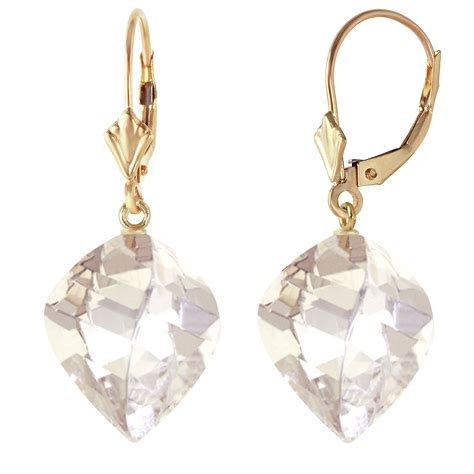 25 6 carat 14k solid gold leverback earrings twisted