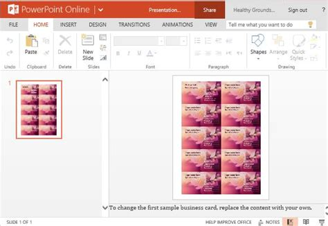 powerpoint business card business cards maker template for powerpoint