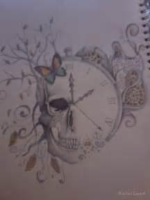 Skull and Clock Tattoo Designs
