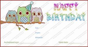 birthday gift certificate template With birthday cheque template