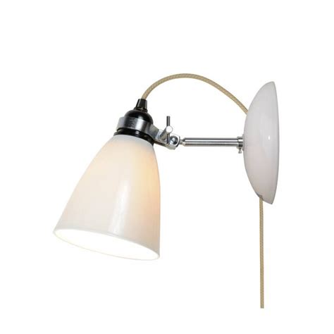 hector medium dome wall light plug switch cable natural