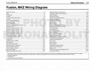 2014 Ford Fusion Lincoln Mkz Wiring Diagram Manual Original
