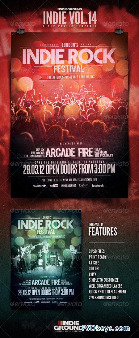 Electro Flyer Poster Template Vol 4 Torrent by Indie Flyer Poster Vol 14 1627921 187 Free Download