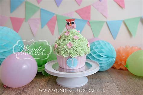 cake smash fotoshoot taart giant cupcake pastel