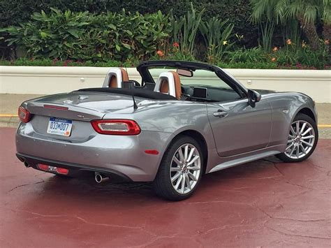 fiat roadster review 2017 fiat 124 spider first drive ny daily news