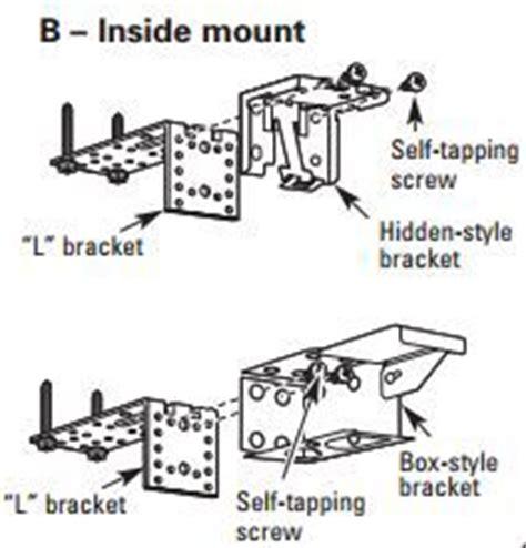 install metal extension brackets