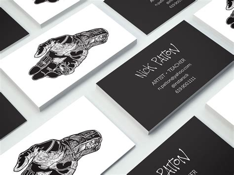 business cards  nick patton inspiration cardfaves