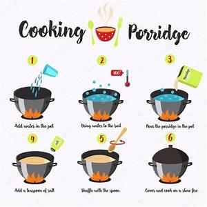 Cooking Instructions  Manual For Cooking  U2014 Stock Vector