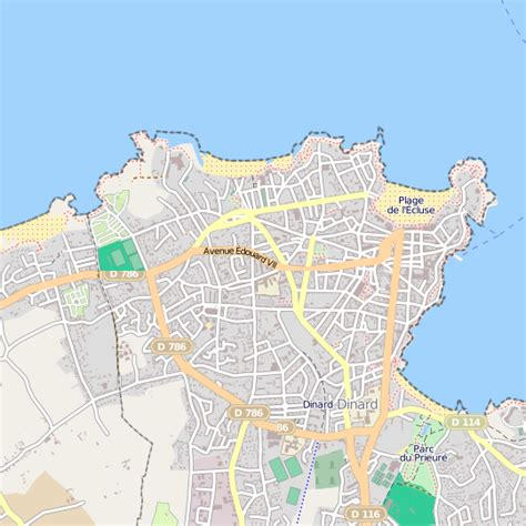 Plan Dinard carte ville Dinard