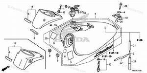 Honda Motorcycle 2018 Oem Parts Diagram For Fuel Tank