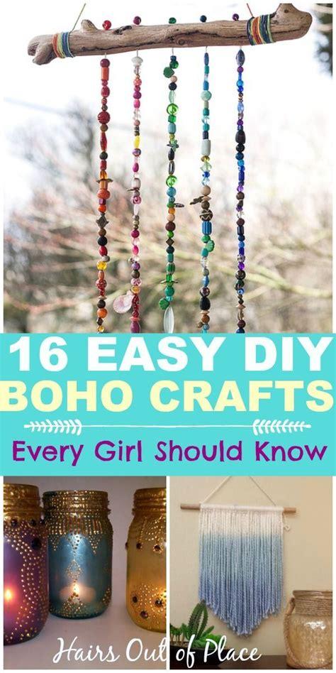 diy easy boho crafts   boho chic room boho diy