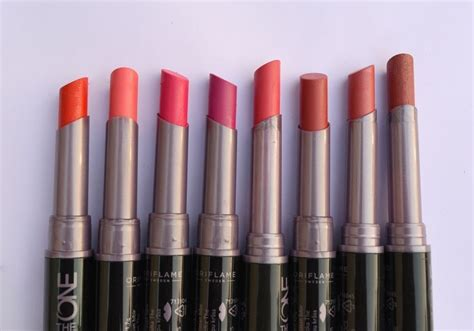 8 oriflame the one colour unlimited lipsticks reviews
