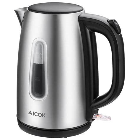 kettle tea electric steel stainless water cordless aicok boiling boil amazon fast 1500w heater british strix 7l shut auto bpa