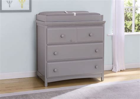 Emerson 3 Drawer Dresser With Changing Top 6 Drawers Laptop Drawer Wide Lock Single Files Professional Library