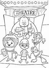 Coloring Theatre Chicken Friends sketch template