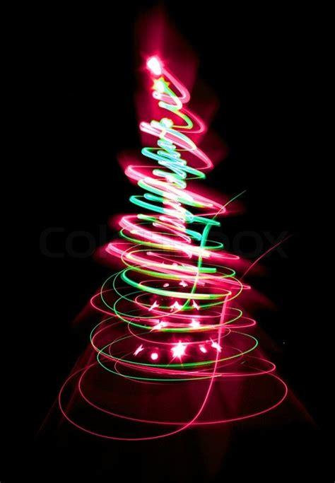 christmas tree form  color lights   black