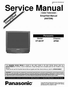 Panasonic Ap391 Chassis Ct2017f Tv Sm Service Manual