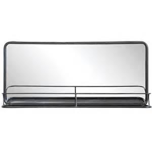 canisters kitchen decor metal mirror w shelf wide da4676