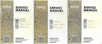 online auto repair manual 1998 chevrolet venture windshield wipe control 1998 chevy venture pontiac trans sport shop manual set chevrolet repair service ebay