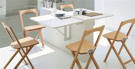 chaise de rabattable small modern dining room design with wall