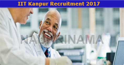 Iit Kanpur Scientist Job 2017- Naukri Nama